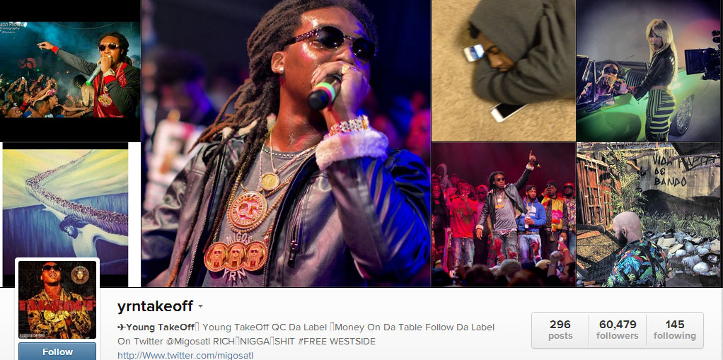 Young Takeoff Instagram Offset Migos Instagram